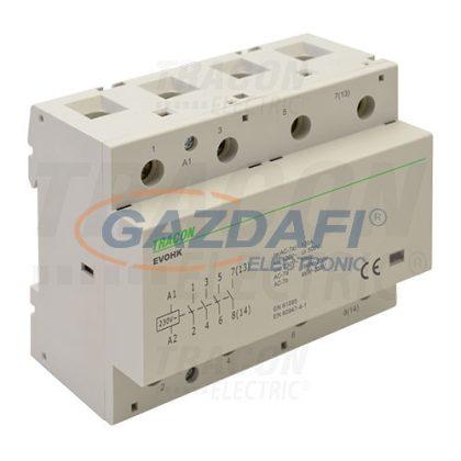 TRACON EVOHK4-80 Installációs kontaktor230V, 50Hz, 4 Mod, 4×NO, AC1/AC7a, 80A,