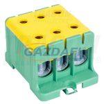 TRACON FLEAL-50/3ZS Főáramköri leágazó kapocs, sínre szerelhető, zöld/sárga 6-50mm2, max. 800VAC, max.160A
