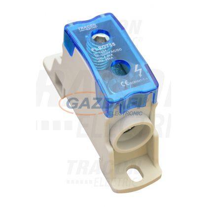 TRACON FLSOT35 Moduláris toldó kapocs nyitható fedéllel 1×35(35)mm2 / 1×35(35)mm2, 1000VAC/DC, 125A