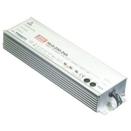 TRACON HLG-240H-24A Professzionális fém házas LEDmeghajtó 90-305 VAC / 24 VDC; 240 W; 0-10 A; PFC; IP65