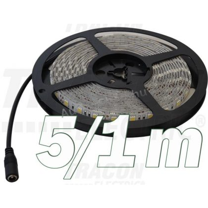 TRACON LED-SZK-96-CW LED szalag, kültériSMD3528; 120 LED/m; 9,6 W/m; 360 lm/m; W=8 mm; 6000 K; IP65, 5 db/csomag