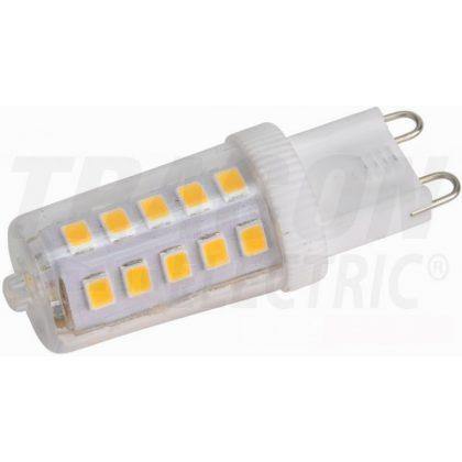 TRACON LG9X3NW LED fényforrás műanyag házban 230 VAC, 3 W, 4000 K, G9, 350 lm, 270°, EEI=A++