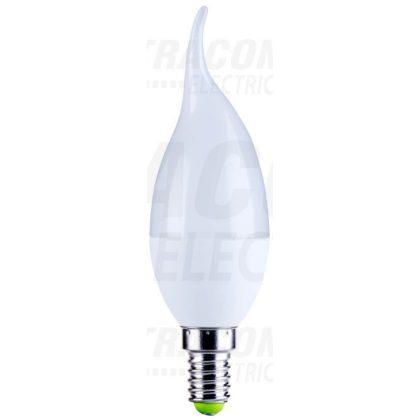TRACON LGYF5NW Gyertya burájú szélfújta LED fényforrás, tejüveg 230V, 50 Hz, 5W, 4000K, E14, 380lm, 250°