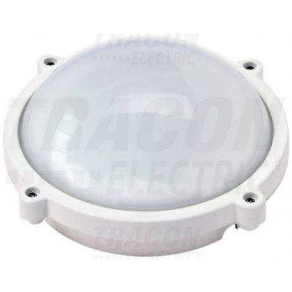 TRACON LHIPK8W Védett, műanyag házas LED hajólámpa, kerek forma 230 VAC, 50 Hz, 8 W, 640 lm, 4000 K, IP65,EEI=A+