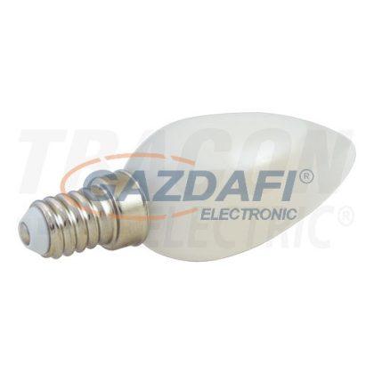 TRACON LOCE143WW LED gyertya fényforrás olajhűtéssel230 V, 50 Hz, E14, 3 W, C35, 3000 K, 300 lm