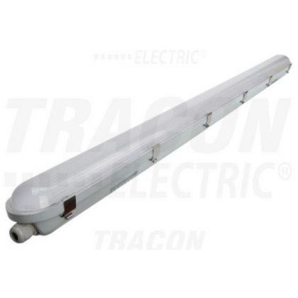 TRACON LVH1236M Védett LED ipari lámpatest mozgásérzékelővel 230 VAC, 36 W, 5400 lm, 4000 K, 1-8m,10s-12m, IP65, IK08