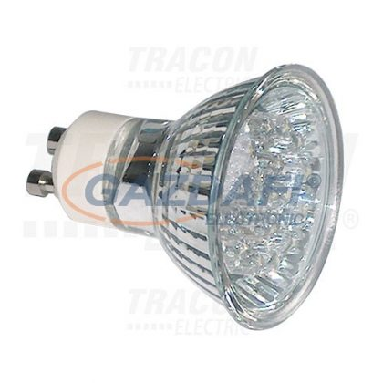 TRACON MR230L-G Hidegtükrös LED fényforrás, zöld230V, 50Hz, MR230, 1,2W, 120°, GU10, 18×LED