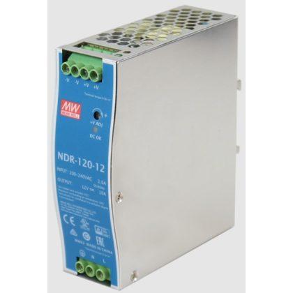 TRACON NDR-120-12 DIN sínre szerelhető tápegységszabályozható DC kimenettel 90-264 VAC / 12-14 VDC; 120 W; 0-10 A