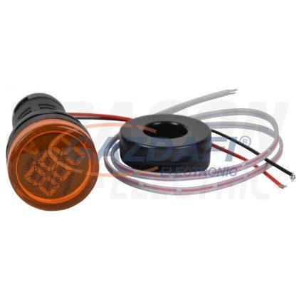 TRACON NYG3-AY Árammérő, LED jelzőfény, sárga 1-100A, Um=230VAC, d=22mm