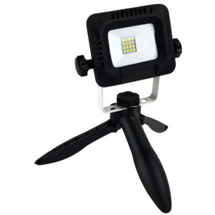 TRACON RSMDTRI10W Összecsukható állványos kézi LED fényvető 180-240VAC, 10W, IP44, 4000K, 3,7V 4400mAh, 800lm, EEI=A+