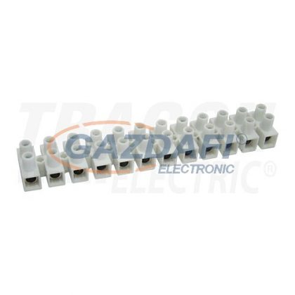 TRACON S10A-H Flexibilis sorozatkapocs, H profil, 12 tag, natúr6mm2, 450VAC, 40A, PP