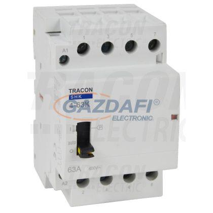 TRACON SHK4-63K Installációs kontaktor 230V AC, 50Hz, 3 Mod, 4×NO, AC1/AC7a, 63A