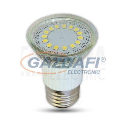 TRACON SMD-E27-15-WW SMD LED spot fényforrás 230V, 50Hz, E27, 4W, 3000K, 300lm, 15×LED3528, 120°, EEI=A+