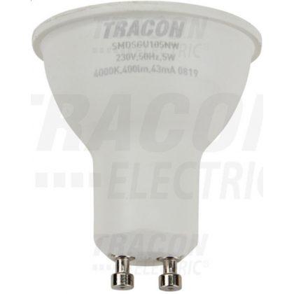 TRACON SMDSGU105NW Műanyag házas SMD LED spot fényforrás SAMSUNG chippel 230V,50Hz,GU10,5W,400lm,4000K,120°,SAMSUNG chip,EEI=A+