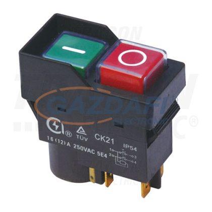 TRACON SSTM-035 Relés biztonsági kapcsoló, bepattintható, fekete kerettel5PIN, 250 VAC, 12A/AC3, IP54, 6,3×0,8