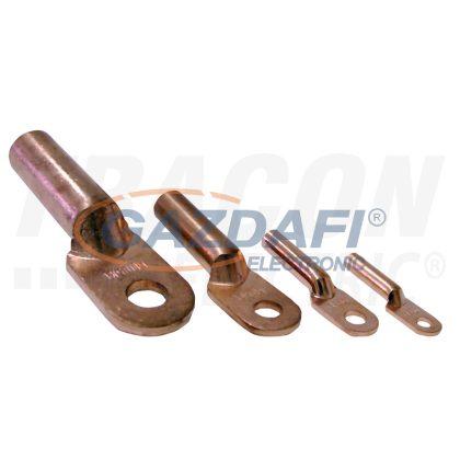 TRACON SZ-CL10 Szigeteletlen hosszított réz szemes csősaru 10mm2, M8, (d1=5,8mm, d2=8,5mm)