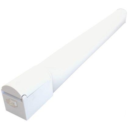 TRACON TLFLEDS8NW Védett integrált LED-es bútorvilágító csatlakozóaljzattal230 V, 50 Hz, 8 W, 720 lm, 4000 K, IP44, EEI=A