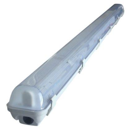 TRACON TLFVLED106 Védett lámpatest LED csövekhez, egyoldalas betáp 230V, 50 Hz, G13, 600 mm, IP65, ABS/PC, EEI=A++,A+,A