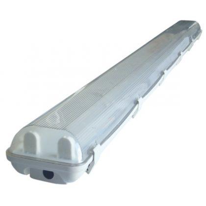 TRACON TLFVLED206 Védett lámpatest LED csövekhez, egyoldalas betáp 230V, 50 Hz, G13, 600 mm, IP65, ABS/PC, EEI=A++,A+,A