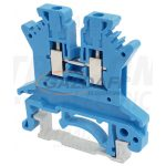 TRACON TSKA1,5-K Nullavezető ipari sorozatkapocs, csavaros, sínre, kék 500V 17.5A 0.14-1.5 mm2