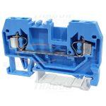 TRACON TSKC2,5-K Nullavezető ipari sorozatkapocs, rugós, sínre, kék 800V 24A 0.08-2.5 mm2 2P