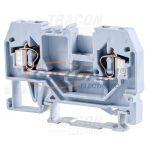 TRACON TSKC2,5 Fázisvezető ipari sorozatkapocs, rugós, sínre, szürke 800V 24A 0.08-2.5 mm2 2P