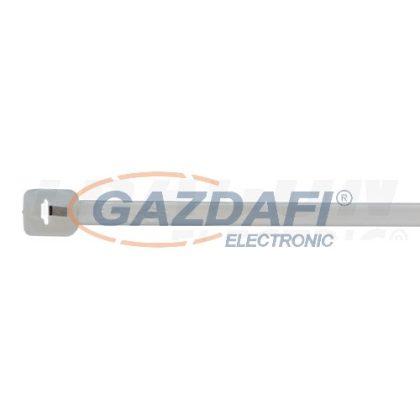 TRACON TU200 UV-álló fémnyelves kábelkötegelő, fekete200×2,4mm, D=2-50mm, PA6.6, 100 db/csomag