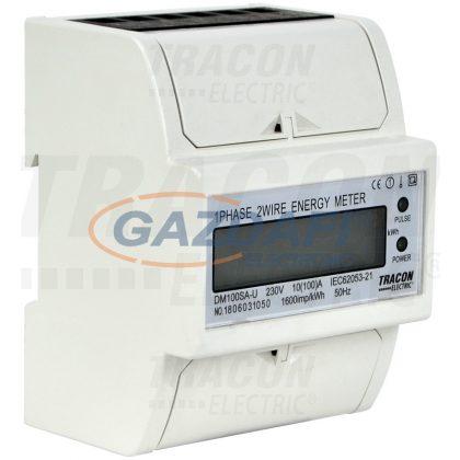 TRACON TVOF14 LCD kijelzésű fogyasztásmérő,közvetlen, 1 fázisú, 4 modul 230VAC / 10(100)A