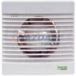 TRACON VF100-B Fürdőszoba ventilátor, golyóscsapágy 230 VAC, 15W, 80 m3/h, 33 dB,100 mm
