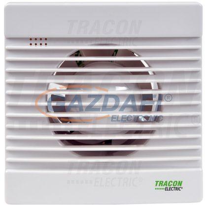 TRACON VF100-BTS Fürdőszoba ventilátor, golyóscsapágy+időzítő+v.zsalu 230 VAC, 15W, 80 m3/h, 33 dB,100 mm
