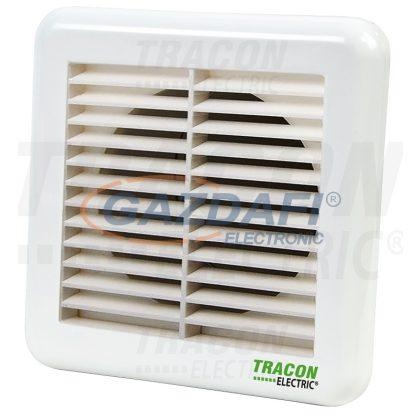TRACON VFS100 Kültéri fix zsalu ráccsal fürdőszoba ventilátorhoz 151×151×45mm, D=96mm