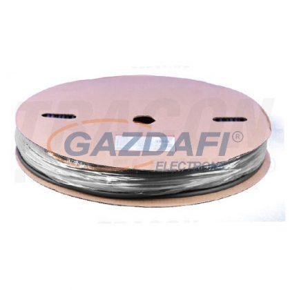TRACON ZSVR60-D Zsugorcső, vékonyfalú, 3:1zsugorodás, gyantás, fekete, dobon6/2mm, POLIOLEFIN
