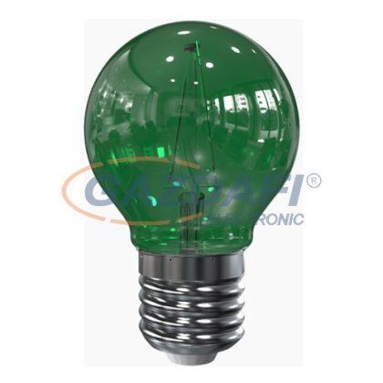 TRONIX 175-784 Filament LED fényforrás, G45, 2W, zöld