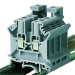 TRACON TSKA16 Fázisvezető ipari sorozatkapocs, csavaros, sínre, szürke 2,5-16mm2, 800VAC, 101A