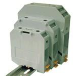 TRACON TSKA240 Fázisvezető ipari sorozatkapocs, csavaros, sínre, szürke 70-240mm2, 1000VAC, 415A