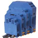 TRACON TSKA35-K Nullavezető ipari sorozatkapocs, csavaros, sínre, kék 6-35mm2, 1000VAC, 150A
