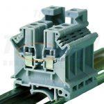TRACON TSKA4/3 Háromkapcsos ipari sorozatkapocs, csavaros, sínre, szürke 0,2-4mm2, 500VAC, 32A