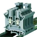 TRACON TSKA4 Fázisvezető ipari sorozatkapocs, csavaros, sínre, szürke 0,2-4mm2, 800VAC, 41A