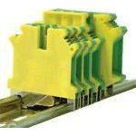 TRACON TSKA4JD Védővezető ipari sorozatkapocs, csavaros, sínre, zöld/sárga 0,2-4mm2, 41A