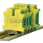 TRACON TSKA50JD Védővezető ipari sorozatkapocs, csavaros, sínre, zöld/sárga 16-50mm2, 150A