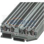 TRACON TSKB1/4 Négykapcsos ipari sorozatkapocs, rugós, sínre, szürke 0,14-1,5mm2, 500VAC, 17,5A