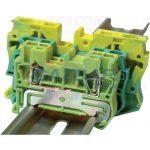TRACON Védővezető ipari sorozatkapocs, rugós, sínre, zöld/sárga