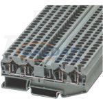 TRACON TSKB2/4 Négykapcsos ipari sorozatkapocs, rugós, sínre, szürke 0,2-2,5mm2, 500VAC, 26A
