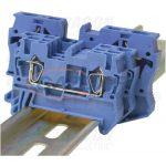 TRACON TSKB2_5K Nullavezető ipari sorozatkapocs, rugós, sínre, kék
