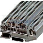 TRACON TSKB4/E Emeletes ipari sorozatkapocs, rugós, sínre, szürke 0,2-4mm2, 500VAC, 32A
