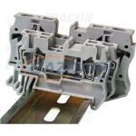 TRACON TSKB4 Fázisvezető ipari sorozatkapocs, rugós, sínre, szürke 0,5-4mm2, 800VAC, 40A