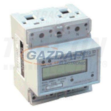 TRACON TVO-F1-2 LCD kijelzésű fogyasztásmérő közvetlen méréshez, egyfázisú 230V / 20 (100)A