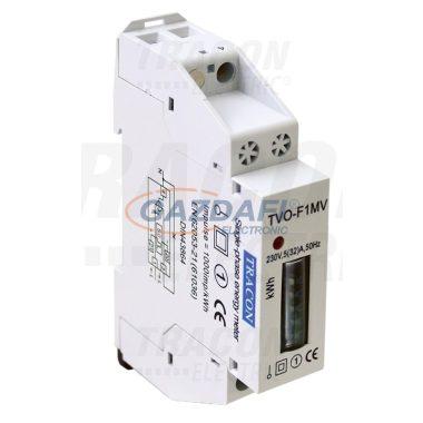 TRACON TVO-F1MV Elektromech. fogyasztásmérő közvetlen méréshez, egyfázisú 230V / 5 (32)A Pd=1W