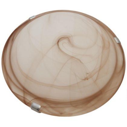TRACON UFO-1-B Üveg mennyezeti UFO lámpatest, bézs 230V, 50Hz, E27, max.1×60W, D=300 mm, EEI=A++,A+,A,B,C,D,E