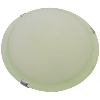 TRACON UFO-2-Z Üveg mennyezeti UFO lámpatest, zöld 230V, 50Hz, E27, max.2×60W, D=300 mm, EEI=A++,A+,A,B,C,D,E